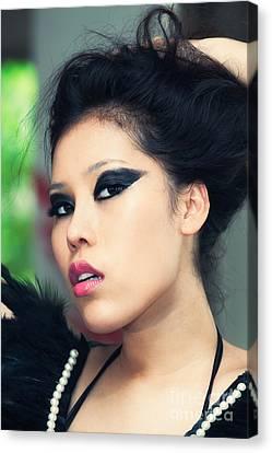 Asian Beauty Canvas Print by Fototrav Print