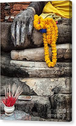 Asian Buddhism Canvas Print by Adrian Evans