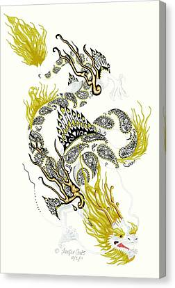 Asian Dragon Canvas Print by Jennifer  Anne Esposito