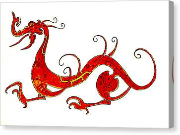 Asian Dragon Canvas Print by Michael Vigliotti
