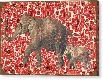Asian Elephant-jp2185 Canvas Print by Jean Plout