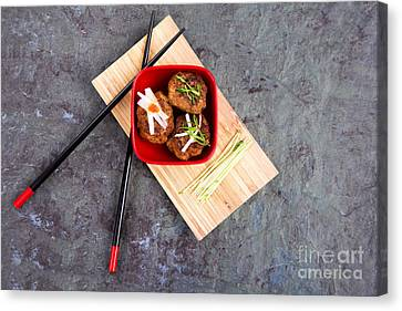 Asian Meatballs 1 Canvas Print by Jane Rix
