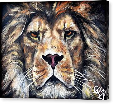 Aslan Canvas Print by Tom Carlton