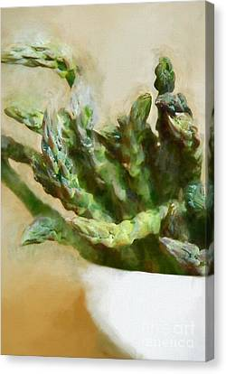 Asparagus Canvas Print by HD Connelly