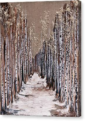 Aspen Grove Canvas Print by Emily Magone