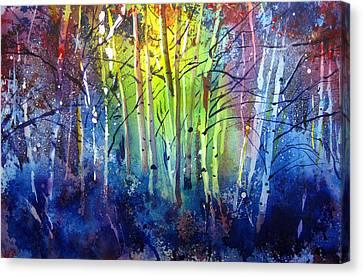 Aspen Grove Canvas Print by Kris Parins