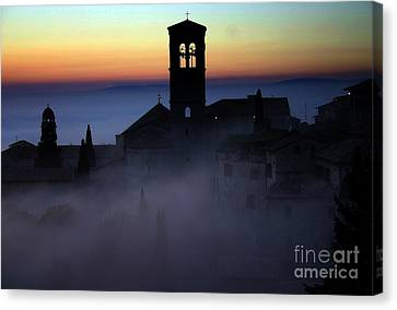 Assisi Steeple Sunset Canvas Print by Henry Kowalski