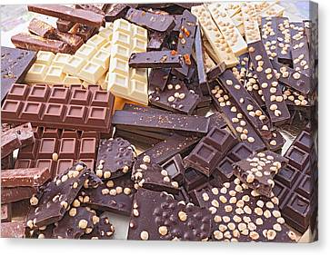Assorted Chocolate Bars Canvas Print by Ermess Images