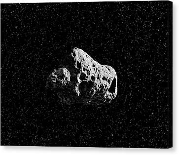 Asteroid Canvas Print by Juan Gaertner