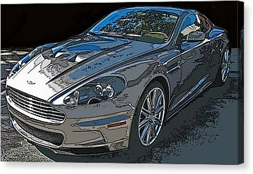 Aston Martin Db S Coupe 3/4 Front View Canvas Print by Samuel Sheats