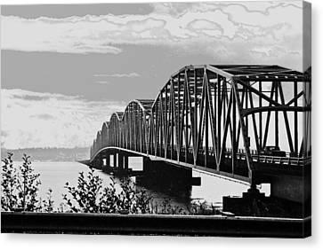 Astoria Bridge Wa. Side Canvas Print by Rae Berge