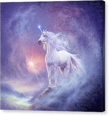 Astral Unicorn Canvas Print by Steve Read