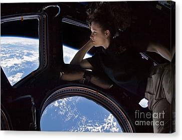 Astronaut Tracy Caldwell Dyson Canvas Print by Science Source