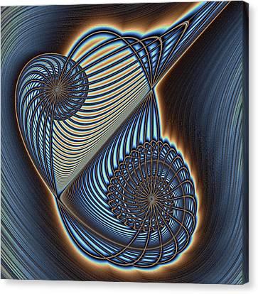 Asymmetric Wire Bow Spiral Canvas Print by Mark Eggleston