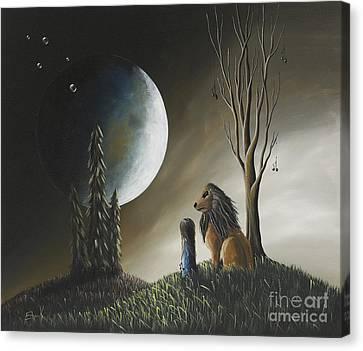 At Midnight By Shawna Erback Canvas Print by Shawna Erback