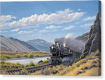 At Point Of Rocks- Bound For Livingston  Canvas Print by Paul Krapf