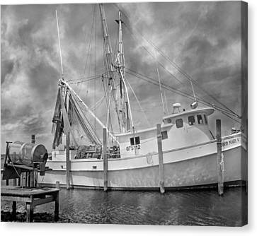 At Rest In The Harbor Canvas Print by Betsy Knapp