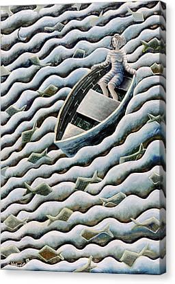 At Sea Canvas Print by Celia Washington