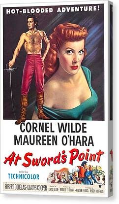 At Swords Point, Us Poster, Cornel Canvas Print by Everett