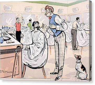 At The Barber And Reading Le Jockey Canvas Print by Thelem