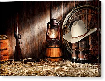 At The Old Ranch Canvas Print by Olivier Le Queinec