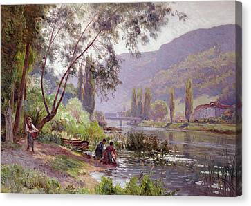 At The River's Edge Canvas Print by Emile Isenbart