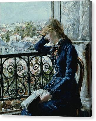 At The Window Canvas Print by Hans Olaf Heyerdahl