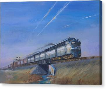 At Track Speed Canvas Print by Christopher Jenkins