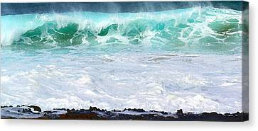 At Waters Edge Canvas Print by James Temple