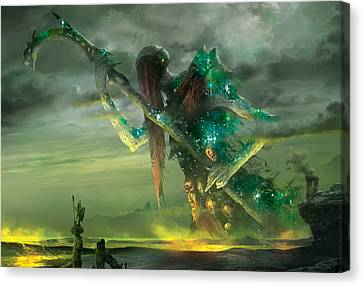 Athreos God Of Passage Canvas Print by Ryan Barger