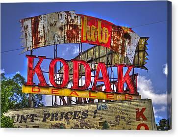 Atlanta Classic Kodak Sign Ponce De Leon 2 Canvas Print by Reid Callaway