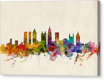 Atlanta Georgia Skyline Canvas Print by Michael Tompsett