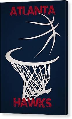 Atlanta Hawks Hoop Canvas Print by Joe Hamilton