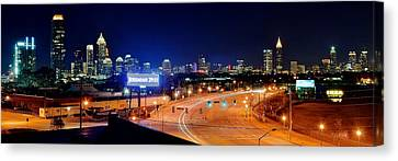 Atlanta Panorama Canvas Print by Frozen in Time Fine Art Photography