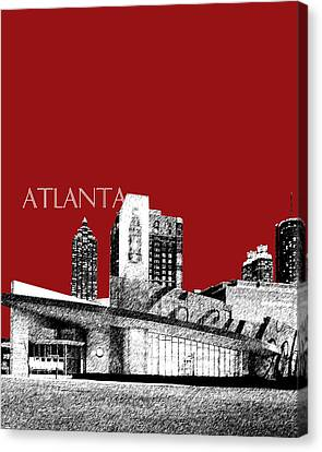 Atlanta World Of Coke Museum - Dark Red Canvas Print by DB Artist