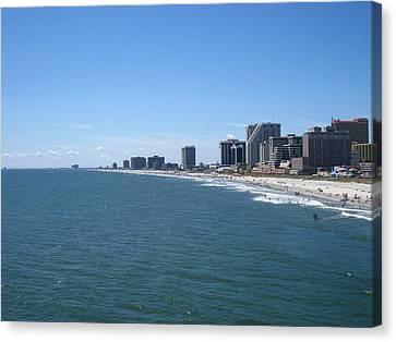 Atlantic City - 12127 Canvas Print by DC Photographer