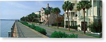 Atlantic Ocean With Historic Homes Canvas Print by Panoramic Images