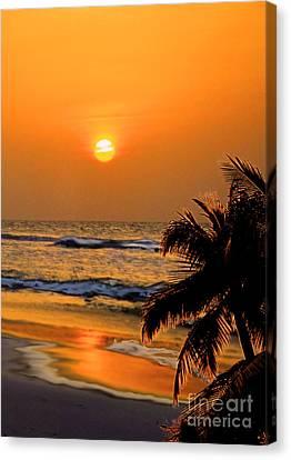 Atlantic Sun Rising Canvas Print by Kathy Baccari