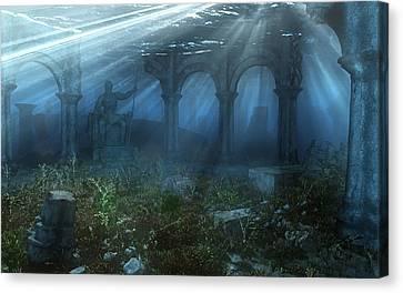Atlantis Canvas Print by Cynthia Decker