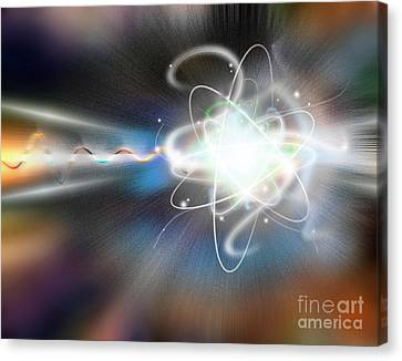 Atom Collision Canvas Print by Mike Agliolo