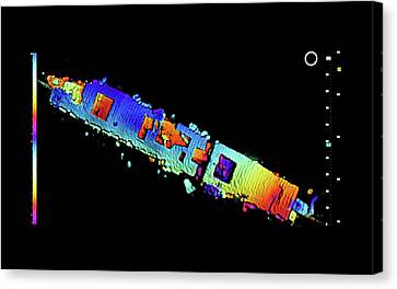 Atomic Bomb Test Ship Wreck Canvas Print by National Oceanic And Atmospheric Administration/coda Octopus/lawrence Berkeley National Laboratory