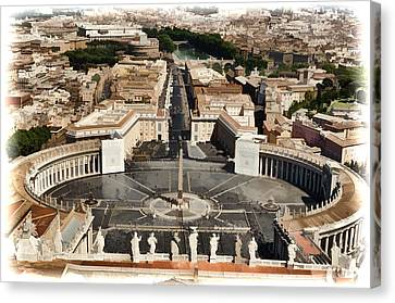 Atop The Domo - Vatican Canvas Print by Jon Berghoff