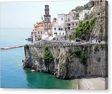 Atrani On Amalfi Coast Canvas Print by Marilyn Dunlap