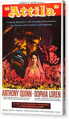 Attila, Us Poster, From Left Anthony Canvas Print by Everett