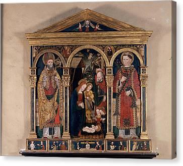 Attributed Bugatto Zanetto, Triptych Canvas Print by Everett
