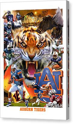 Auburn Tigers Canvas Print by Mark Spears