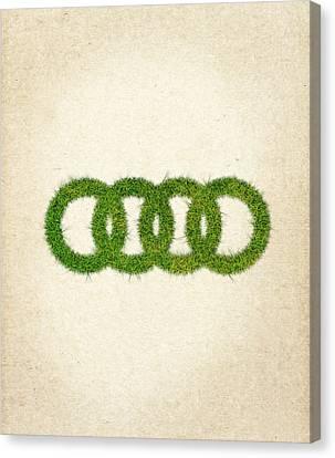 Audi Grass Logo Canvas Print by Aged Pixel