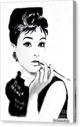 Audrey Hepburn Canvas Print by Anna Androsovski