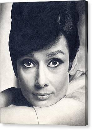 Audrey Hepburn Canvas Print by Erin Mathis