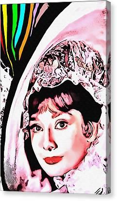 Audrey Hepburn In My Fair Lady Canvas Print by Art Cinema Gallery